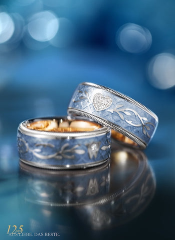Wellendorff Ring Brillant Herz Eisblau