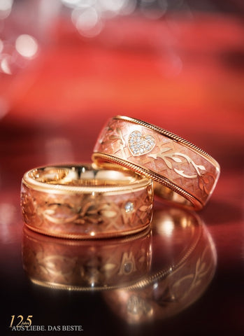 Wellendorff Ring Brillant Herz Rose