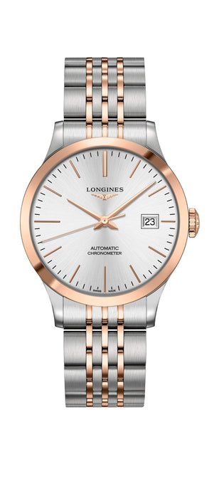 Longines Record Stahl Gold 38mm Automatik