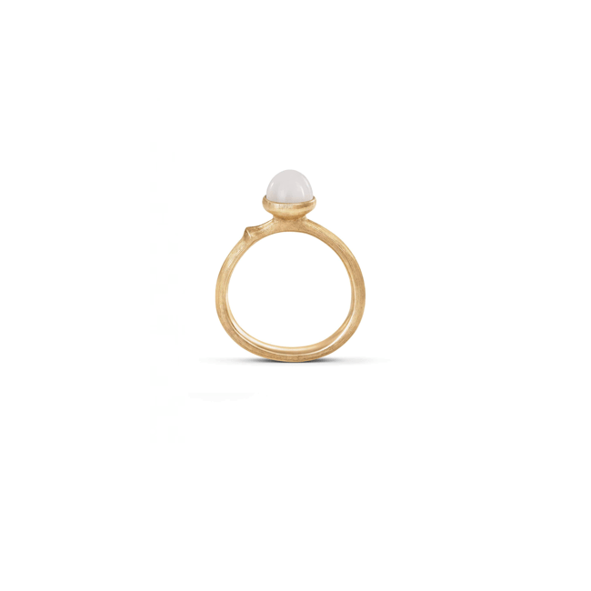Lotus Ring in Gelbgold