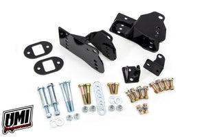 UMI Performance 1978-1988 GM G-Body Rear Coilover Bracket Kit, Control Arm Relocation, Bolt In, Brackets Only
