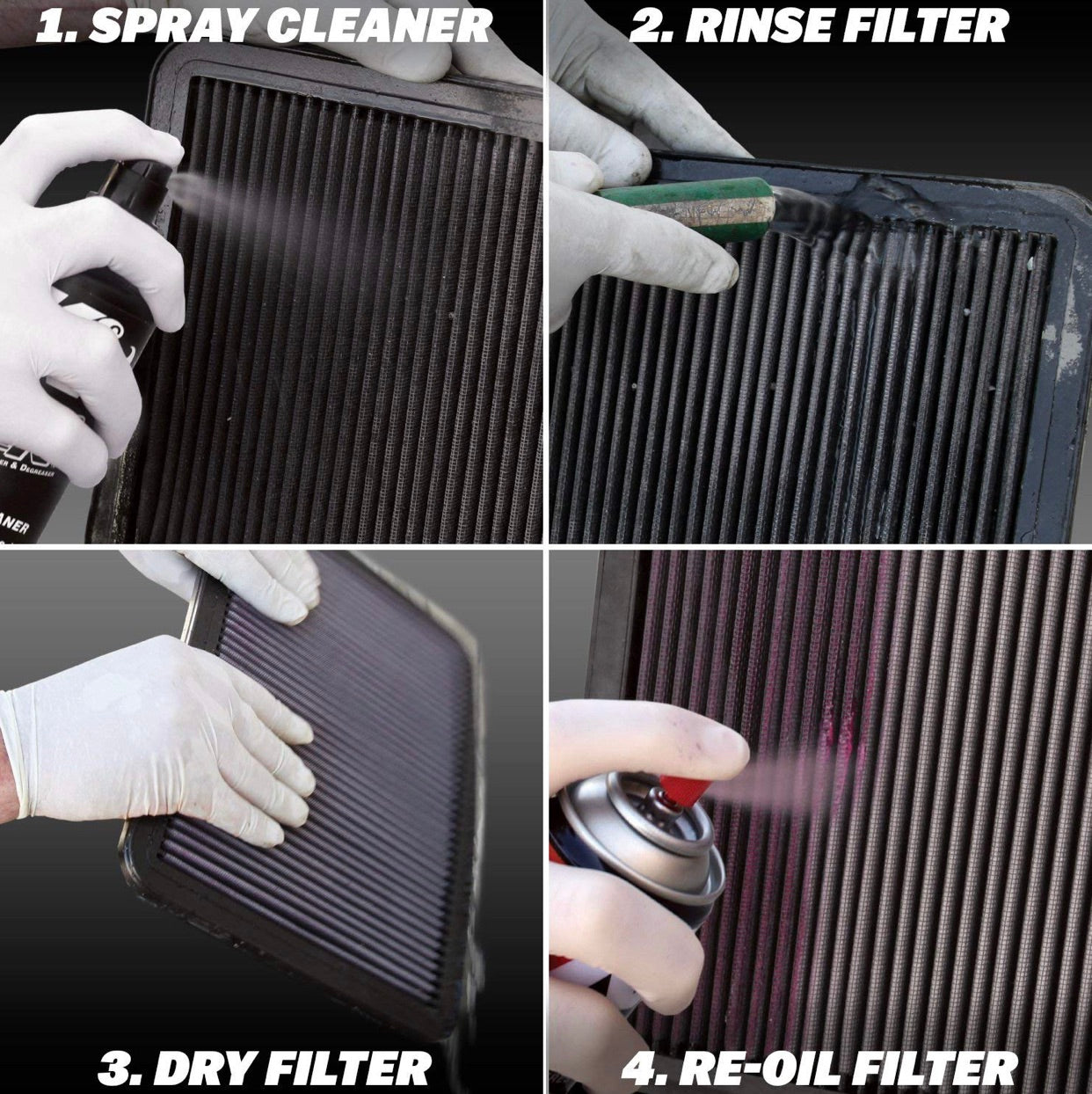 K&N Air Filter Care Service Recharge Kit