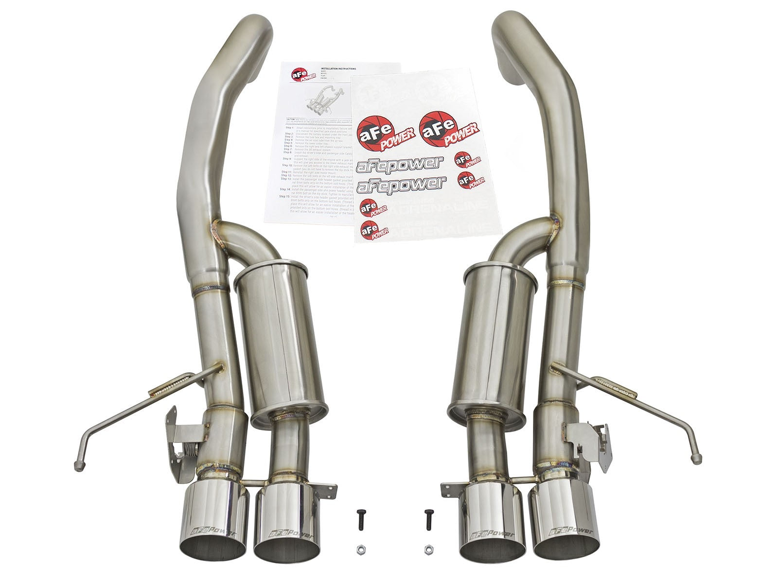 "MACH Force-Xp 3"" to 2-1/2"" 304 Stainless Steel Axle-Back Exhaust System Chevrolet Corvette Z06 (C7) 15-19 V8-6.2L (sc)"
