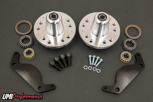 UMI Performance 1978-1988 GM G-Body C5/C6 Front Brake Conversion Hubs, Bearings, Bracket Kit