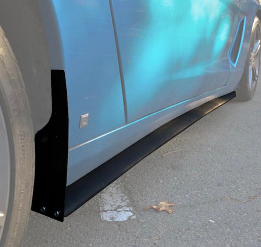Corvette C6 Base Primer Black Side Skirts Rocker Panels | ZR1 Conversion Package