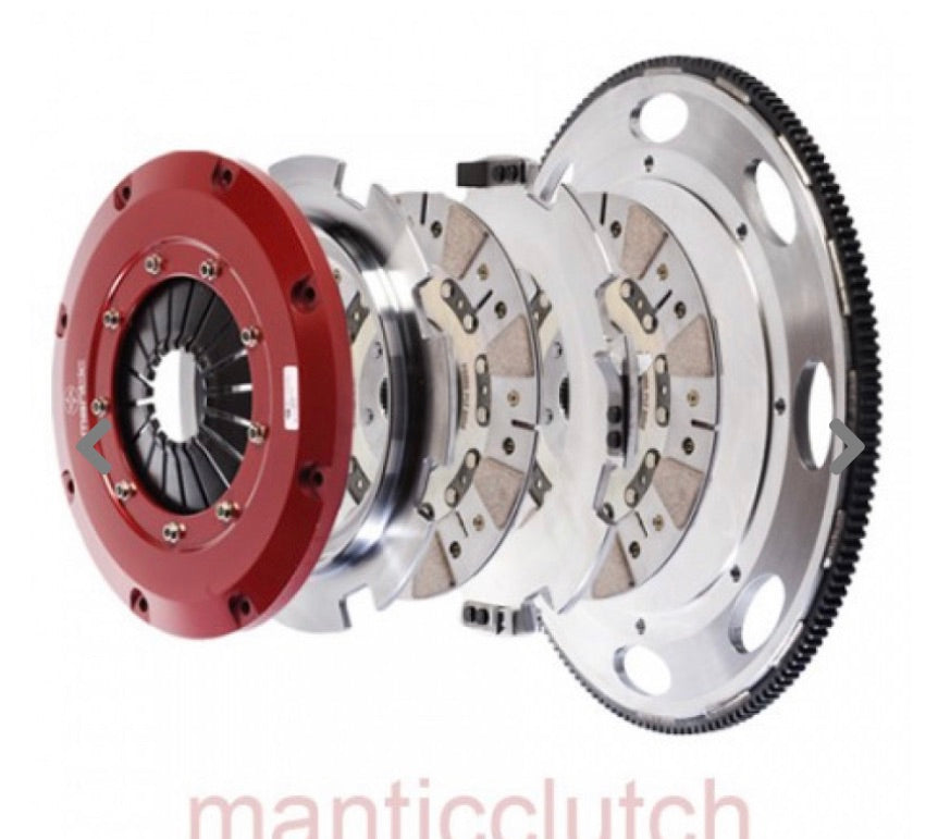 MANTIC CLUTCH KIT - 9000 SERIES SPRUNG STREET CERAMETALLIC TWIN DISC C6 CORVETTE - M921202