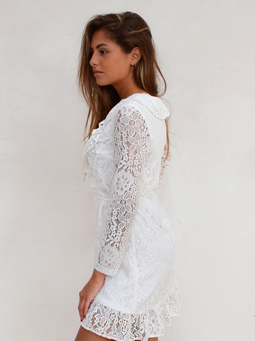 Hungry hearts lace dress