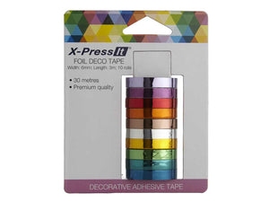 Deco Tape Foil, 6mm x 3m (10 rolls)