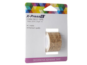 "Deco Tape Cork, 25mm x 1m, 1"" x 1yd"