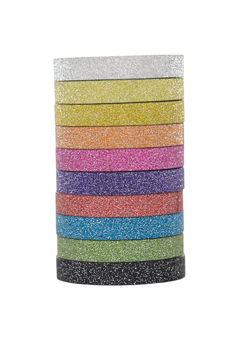 Deco Tape Glitter, 6mm x 3m (10 rolls)