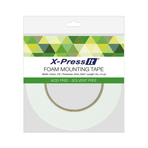 "Double-Sided Foam Tape, 12mm x 4m, 1/2"" x 4.4yds"