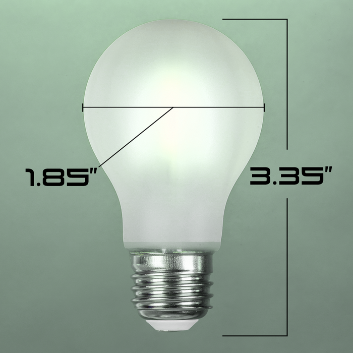 LED A15, Filament, 4W, Edison Vintage Style, 60w Incandescent Replacement,120VAC, 5000K, E26, 360 degree, Frosted Glass, Dimmable - Global Lumen