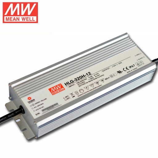 HLG-320H-12 Mean Well Power Supply, 100-277VAC to 12V DC output, 7 Year Warranty, LED Driver - Global Lumen