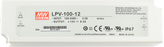 LPV-100-12 Mean Well Power Supply, 100-277VAC to 12V DC output, 2 Year Warranty, LED Driver