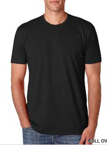 Shirt-Black Unisex Short Sleeve Crew Neck