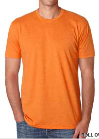 Shirt Orange Unisex Short Sleeve Crew Neck