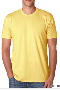 Shirt Yellow Unisex Short Sleeve Crew Neck