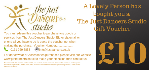 Just Dancers Studio Gift Card