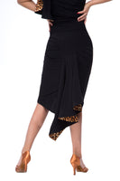 Ladies Animal Print Latin Practice Skirt