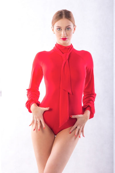 Dance Box Isabell Neck Tie Body in Red