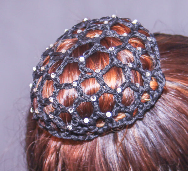 Dancers Crystal  Hair Bun Net.