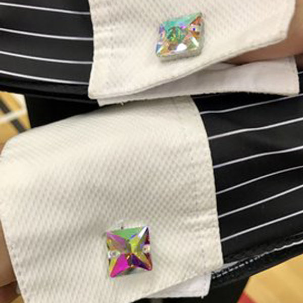 Dance With Crystals Cosmo Cufflinks