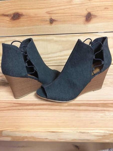 Sugar Denim Booties