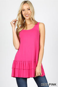 Sleeveless Ruffle