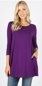 Boat Neck Pocket Tunic