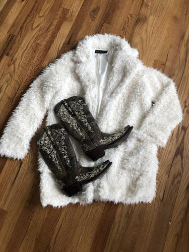 Cream Fleece Coat