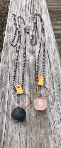Long Stone Necklace