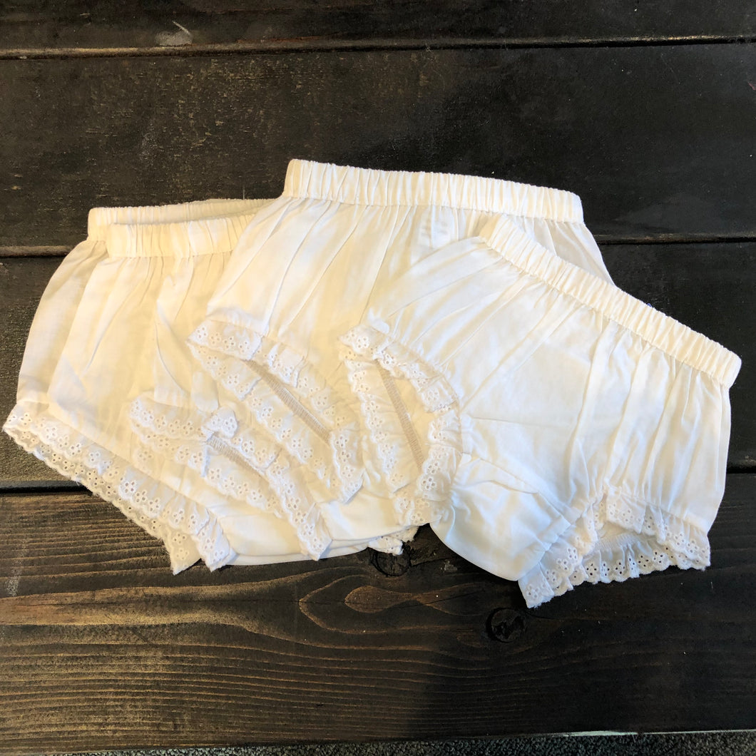 White Lace Bloomers