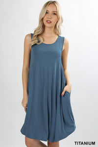 Sleeveless Round Hem Dress