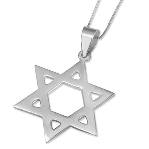 Sterling silver star of david pendant estee brook sterling silver star of david pendant aloadofball Image collections