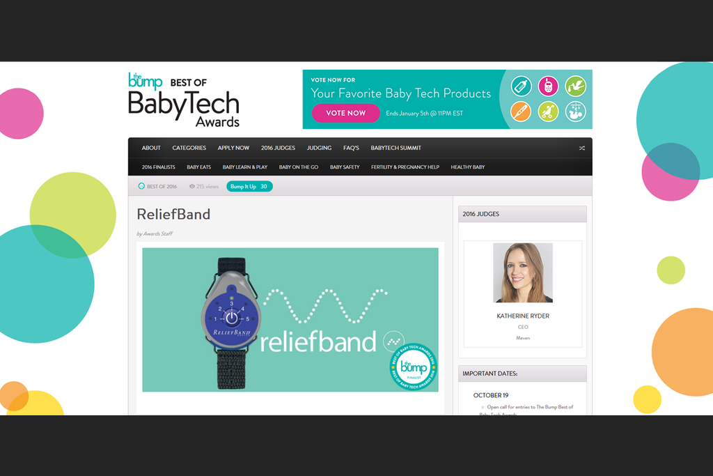 The Bump: Best of BabyTech Award Finalist Is . . .