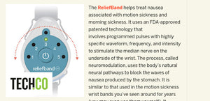 Tech.co – Reliefband Wearable Helps Combat Nausea