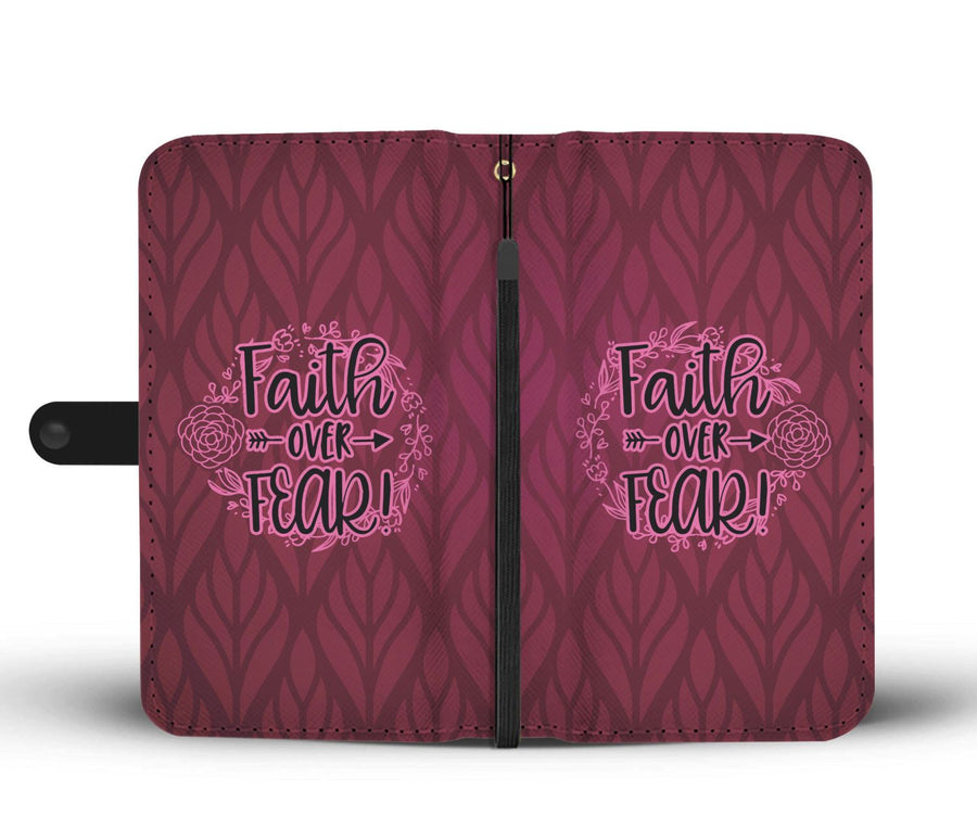 Faith Over Fear Wallet Phone Case