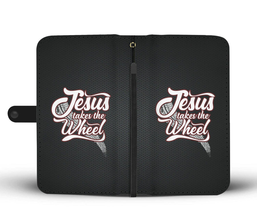 Jesus Takes The Wheel Wallet Phone Case