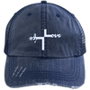 Love Life Distressed Trucker Cap - faithinlord