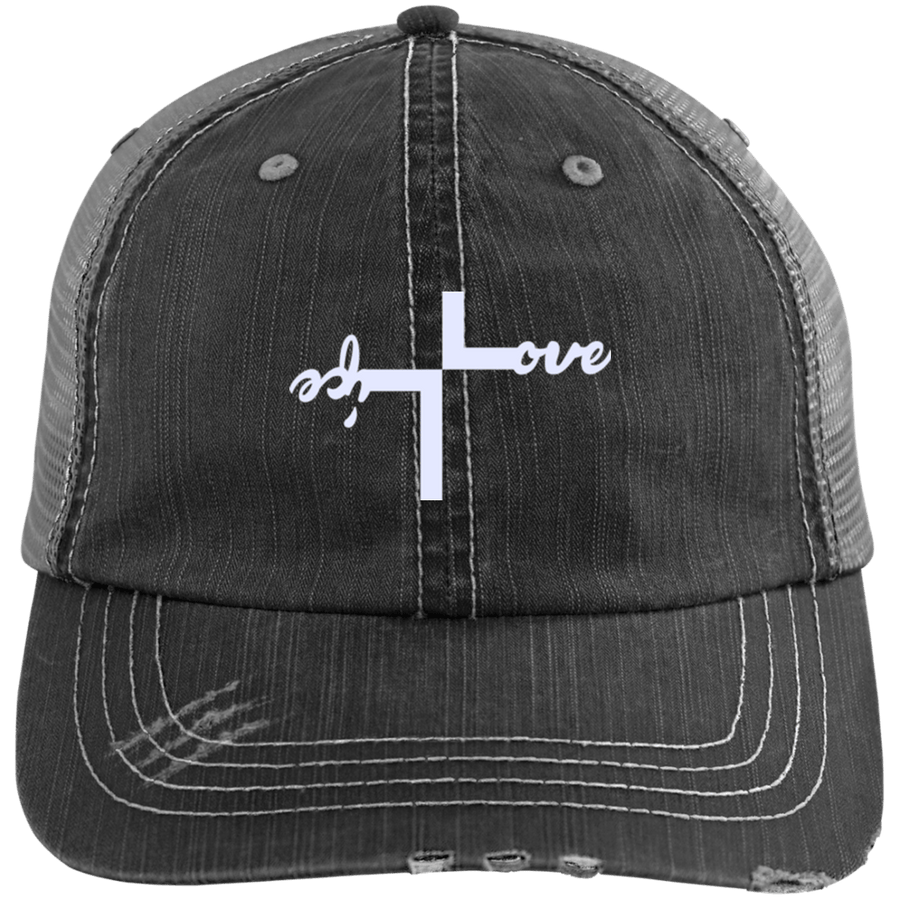 Love Life Distressed Trucker Cap