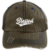 Blessed Distressed Trucker Cap - faithinlord