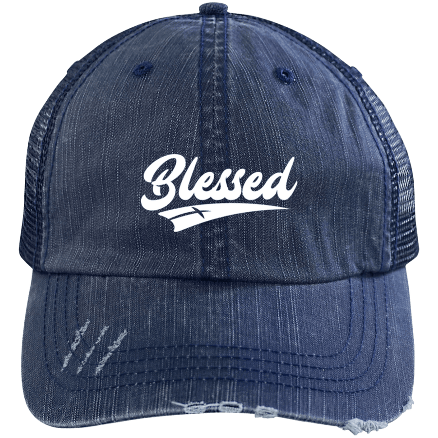 Blessed Distressed Trucker Cap