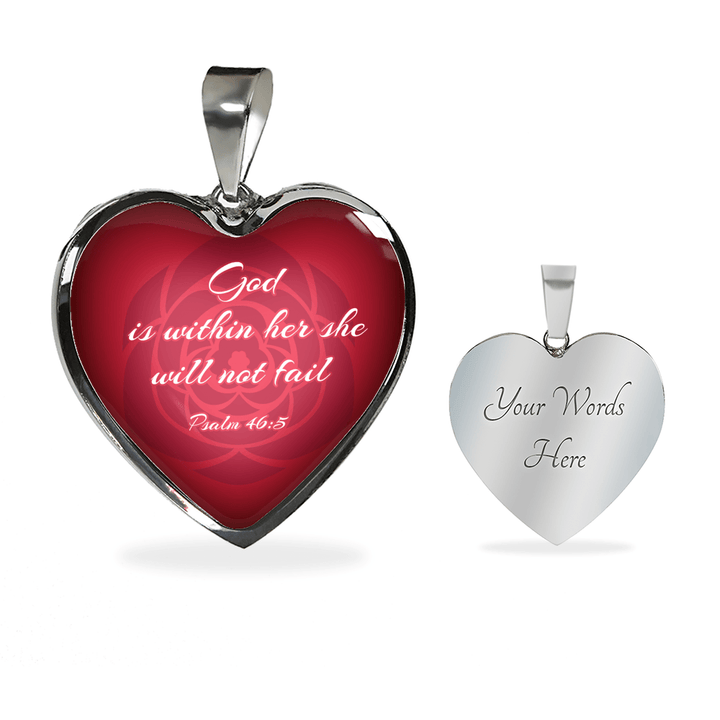 God Is Within Her She Will Not Fail Pendant Necklace / Bangle - faithinlord