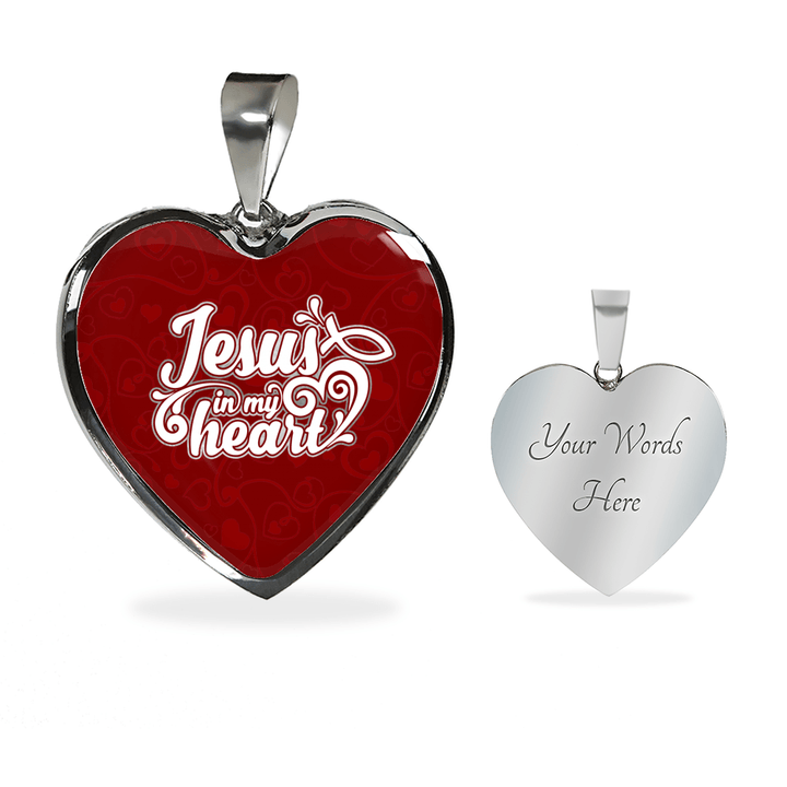 Jesus In My Heart Necklace / Bangle - faithinlord