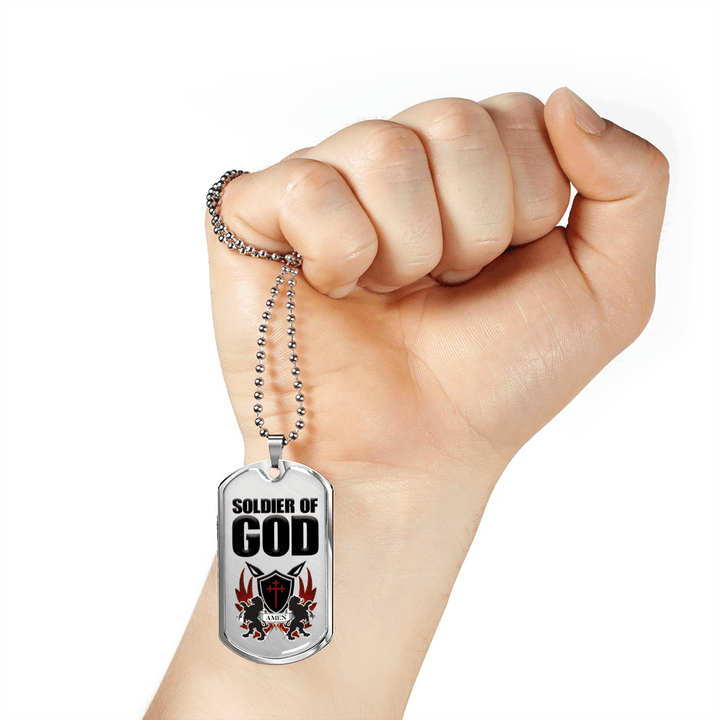 Soldier of God Military Tag - faithinlord