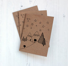 A6 Winter notebook with plain paper