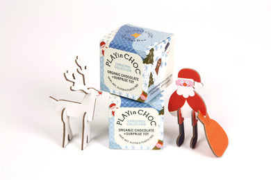 PLAYin CHOC Kids Christmas Collection - Organic Dairy Free Chocolate and Surprise Toy