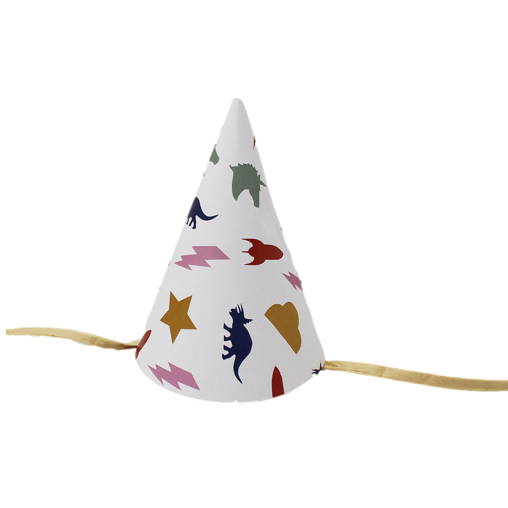 Cool Shapes Plastic Free Party Hats - Set of 5