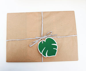 Gift tag, tropical leaf gift tag, eco friendly gift tag ,summer party decor