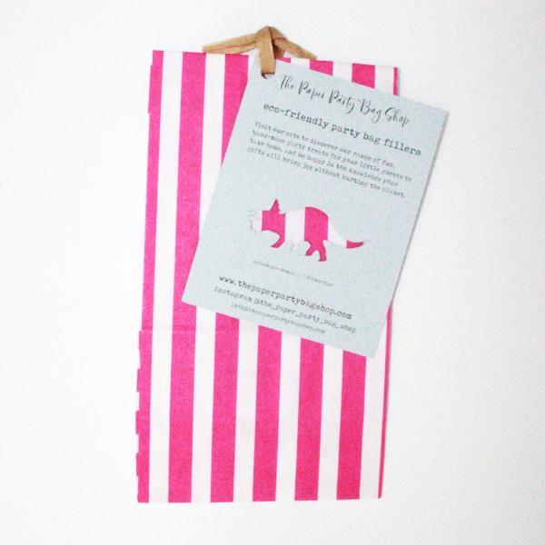 pink unicorn party pre-packed eco party bags, eco party bag fillers, paper party bag fillers, the paper party bag shop